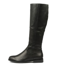 YARARI Knee High Boots in Black Leather