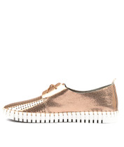HUSTON Flats in Rose Gold Leather