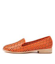 ANSON Loafers in Orange Leather