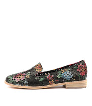 ANSON Loafers in Black Floral Leather