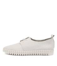 HALBERT Lace-up Sneakers in White Leather