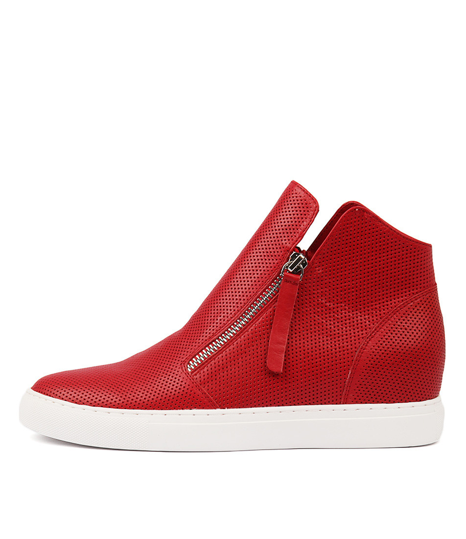 59b471e0b583 GISELE Sneakers in Red Leather - Django and Juliette