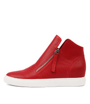 GISELE Sneakers in Red Leather