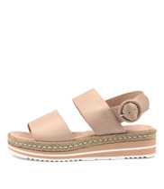 ATHA Flatform Sandals in Nude Leather