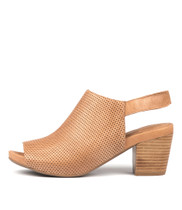 ZOOKY Heeled Sandals in Tan Leather