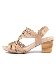 ZOLLIE Heeled Sandals in Nude Leather
