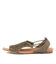 JADELIKE Sandals in Khaki Leather