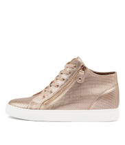 GIAZZA Sneakers in Rose Gold Leather