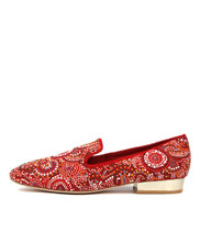 MARILEE Flats in Red Suede