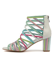 NATHANS Heeled Sandals in Gelato/ Multi Leather