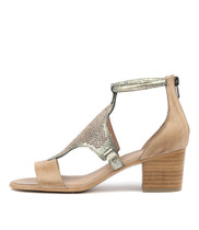 MAREN Heeled Sandals in Flesh Leather