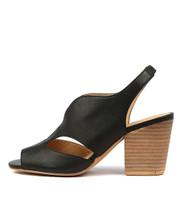 WERNER Heeled Sandals in Black Leather