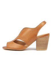 WERNER Heeled Sandals in Tan Leather