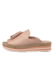 AYDEN Flatform Sandals in Nude Leather