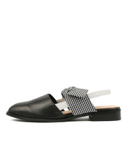 LENINA Flats in Black/ White Multi