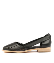 ADRIENE Flats in Black Leather