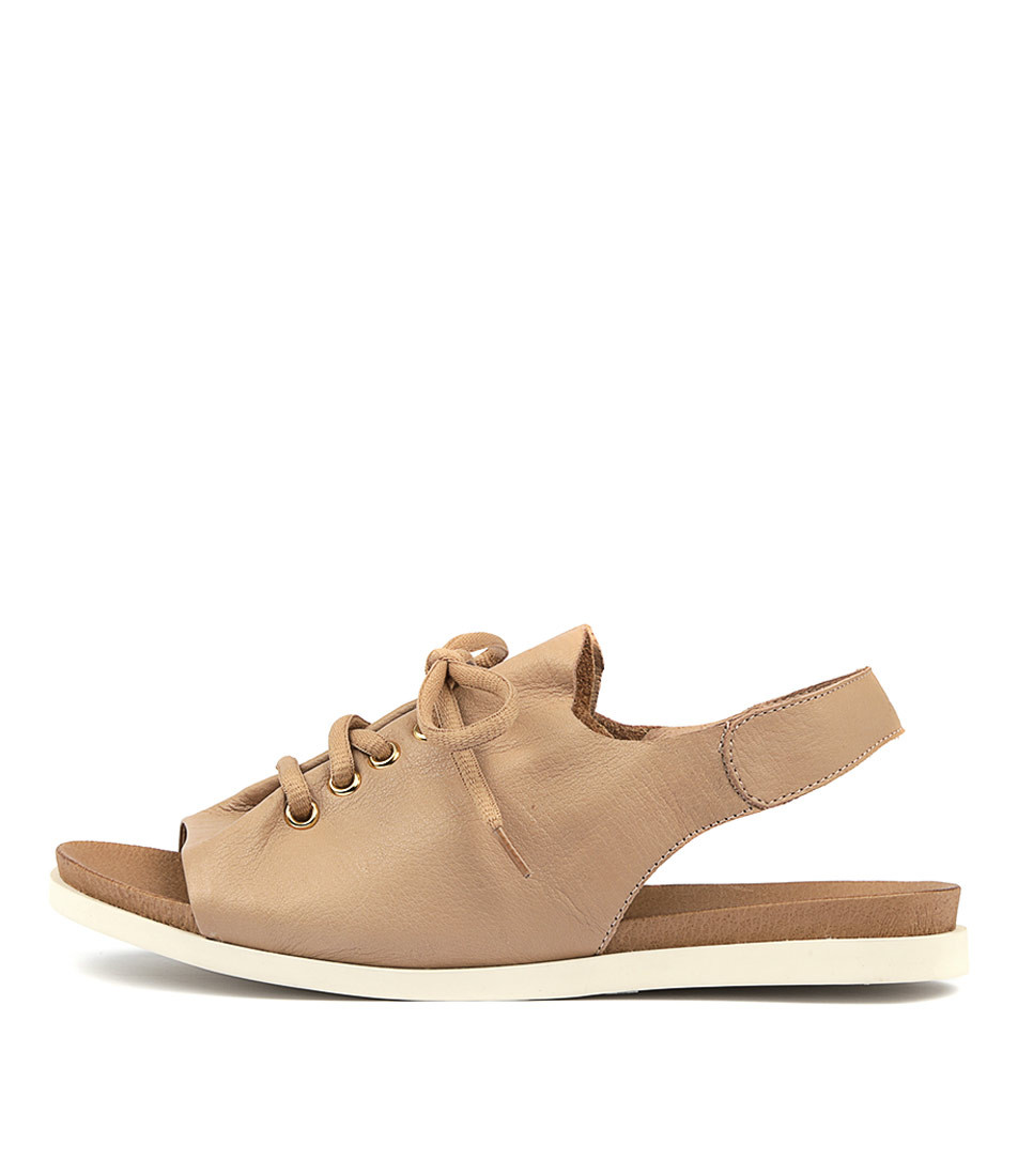 42b806dce CLIDE Sandals in Latte Leather - Django and Juliette