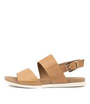CARINA Sandals in Dark Tan Leather