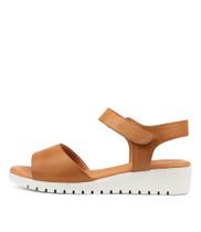 MULTON Sandals in Dark Tan Leather