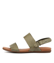 BRIDE Sandals in Khaki Leather