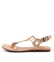BARISHA Sandals in Rose Gold Leather