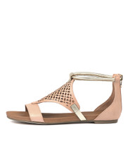 JIMBLE Sandals in Pale Cantaloupe Leather