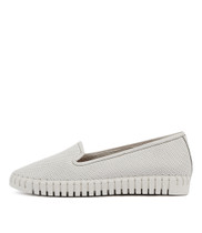 HARUKO Flats in White Leather