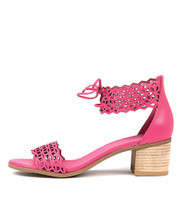 DORLA Heeled Sandals in Fuchsia Leather