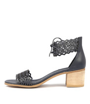 DORLA Heeled Sandals in Navy Leather