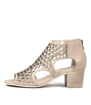 BOSTIK Heeled Sandals in Nude Leather
