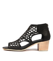 BOSTIK Heeled Sandals in Black Leather