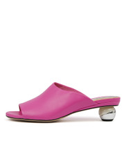 DANEEN Heeled Sandals in Hot Pink Leather
