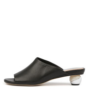 DANEEN Heeled Sandals in Black Leather