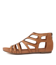 JASENT Sandals in Tan Leather