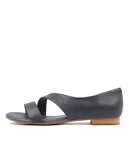 PURL Sandals in Navy Leather