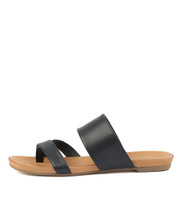JENILEE Sandals in Navy Leather