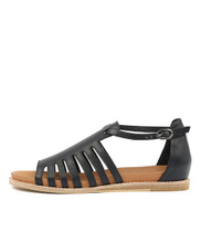 HATAL Sandals in Navy Leather