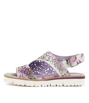 TASIAS Sandals in Lilac Pastel Print Leather