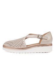 PRENTICE Flatforms in Nude Leather