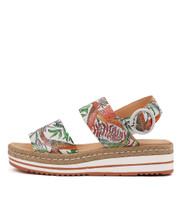 ATHA Flatform Sandals in Pastel Multi Leather