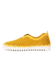 HELENA Flats in Yellow Suede PU