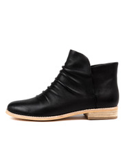 AILI Ankle Boots in Black Leather