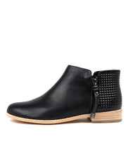 ALWINE Ankle Boots in Black Leather