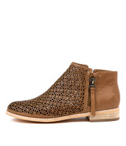 ARLENAS Ankle Boots in Tan Leather