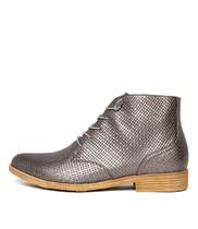 KAUAI Ankle Boots in Pewter Leather