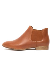 KHIRY Ankle Boots in Dark Tan Leather