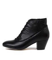 HAILIE Ankle Boots in Black Leather