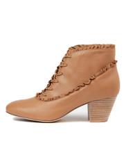 HAILIE Ankle Boots in Tan Leather