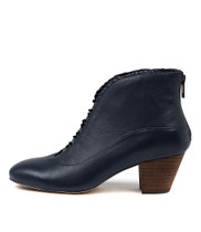 HEMERA Ankle Boots in Navy Leather