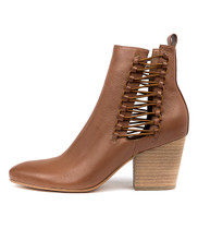 ISHMAEL Ankle Boots in Cognac Leather